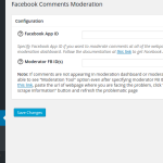 Facebook Comments Moderation Settings