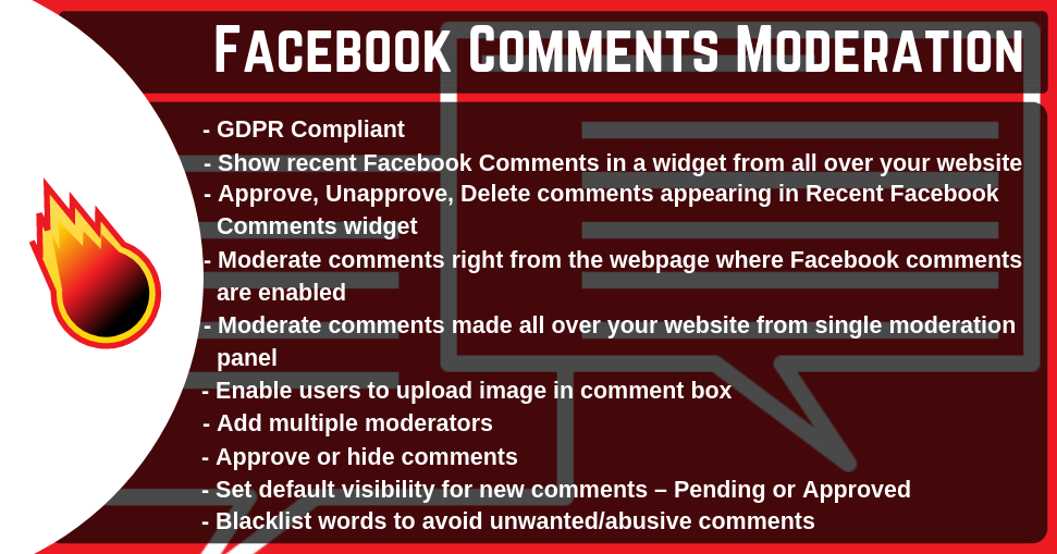 Facebook Comments Moderation