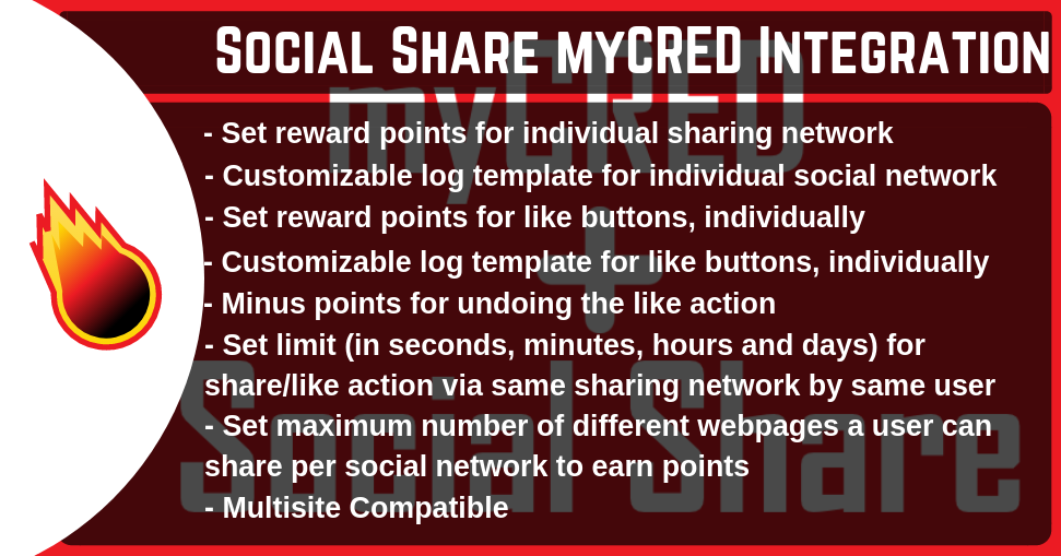Social Share myCRED Integration
