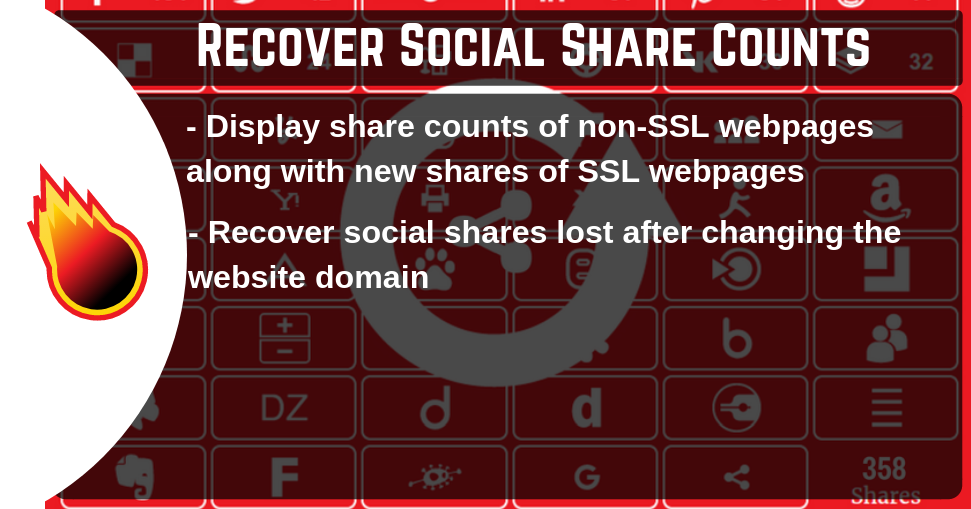 Recover Social Share Counts
