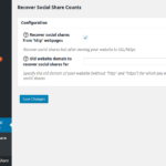 Recover Social Share Counts - Settings