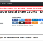 Recover Social Share Counts - Share Counts After Activating The Add-On