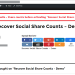 Recover Social Share Counts - Share Counts Before Activating The Add-On