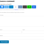 Social Login Buttons Comment Form