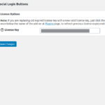 Social Login Buttons - License Settings Page