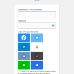 Social Login Buttons Theme 2